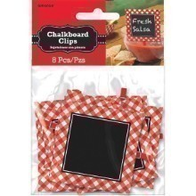 RED CHECKER CHALKBOARD CLIPS Thumbnail