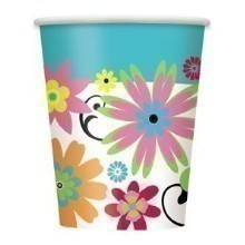FLIRTY FLOWERS 9 OZ CUPS - 8 COUNT Thumbnail
