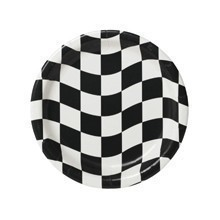 BLACK & WHITE CHECKERED 9