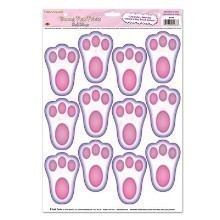 BUNNY PAW PRINTS PEEL N PLACE DECALS Thumbnail