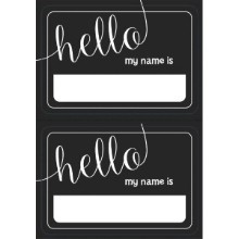 CHALKBOARD LOOK NAMETAGS - 100 COUNT Thumbnail