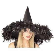 BLACK FEATHER WITCH HAT Thumbnail