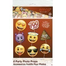 EMOJI 8PC PHOTO BOOTH PROPS Thumbnail