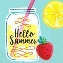 HELLO SUMMER LEMONADE BEVERAGE NAPKINS Thumbnail