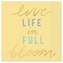 LIFE IN BLOOM HOT-STAMPED BEVERAGE NAPKINS Thumbnail