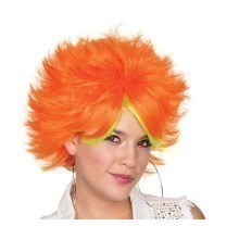 80'S POP WIG- ORANGE  Thumbnail