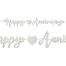 SILVER FOIL HAPPY ANNIVERSARY BANNER Thumbnail