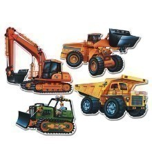 CONSTRUCTION VEHICLE CUTOUTS - 4 PACK Thumbnail