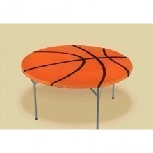 BASKETBALL ROUND TABLECOVER  Thumbnail