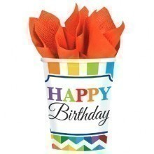 Bright Birthday 9oz Paper Cups - 8 Count Thumbnail