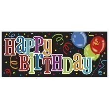 Bold Birthday Giant Wall Banner - 60