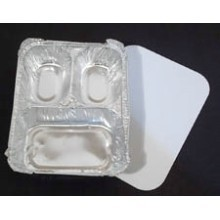 3 COMPARTMENT ALUMINUM FOOD CONTAINER W/ LID Thumbnail