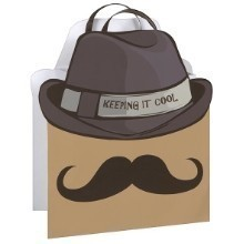 COOL MUSTACHE LARGE SHAPED GIFT BAG Thumbnail