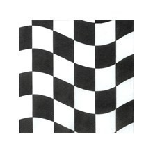 BLACK & WHITE CHECKS BEVERAGE NAPKINS - 20 CT Thumbnail