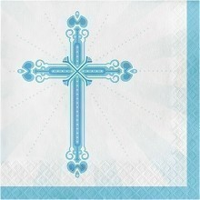 BLESSINGS BLUE LUNCH NAPKINS - 32 COUNT Thumbnail