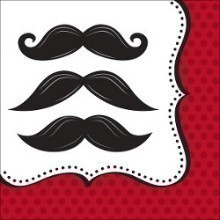 MUSTACHE MADNESS LUNCH NAPKINS-16 COUNT Thumbnail