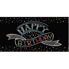 Chalk Birthday Plastic Tablecover - 54