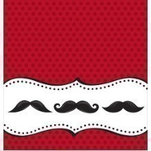MUSTACHE MADNESS PLASTIC TABLECOVER Thumbnail