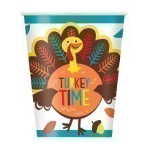 CARTOON TURKEY 9OZ CUPS Thumbnail
