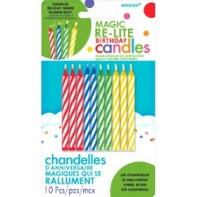 10 MAGIC RE-LITE SPIRAL CANDLES Thumbnail