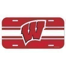 UNIVERSITY OF WISCONSIN BADGERS LICENSE PLATE Thumbnail