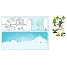 Christmas Kid's Activity Placemats - 8 Count Thumbnail