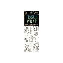 WEDDING BELLS PRINT TISSUE WRAP - 4 COUNT Thumbnail