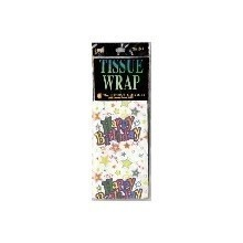 BIRTHDAY STAR PRINT TISSUE WRAP - 4 COUNT Thumbnail