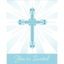 BLESSINGS BLUE INVITES - 25 COUNT Thumbnail