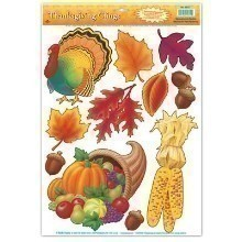 FALL & THANKSGIVING REMOVABLE WINDOW CLINGS Thumbnail