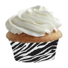 100CT ZEBRA PRINT MINI MUFFIN CUPS Thumbnail