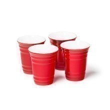 4 PACK RED CUP SHOT GLASS SET Thumbnail