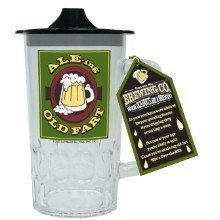 ALE-ING OLD FART BEER STEIN SIPPY CUP Thumbnail