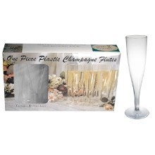 1 PIECE CHAMPAGNE FLUTES-10 COUNT BOX Thumbnail
