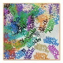 1/2 OZ HAPPY BIRTHDAY METALLIC CONFETTI Thumbnail