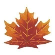 MAPLE LEAF SHAPED PLACEMATS Thumbnail