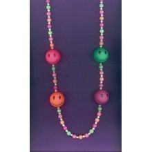 NEON SMILEY BEAD NECKLACE Thumbnail