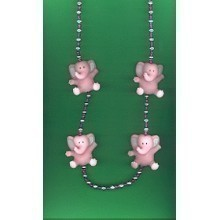PINK ELEPHANTS BEAD NECKLACE Thumbnail