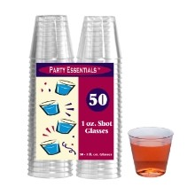 1 OZ SHOT GLASSES-CLEAR 50 CT Thumbnail