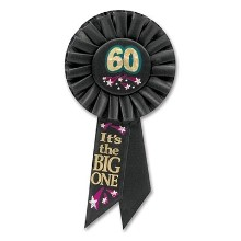 60 IT'S THE BIG ONE ROSETTE PIN Thumbnail