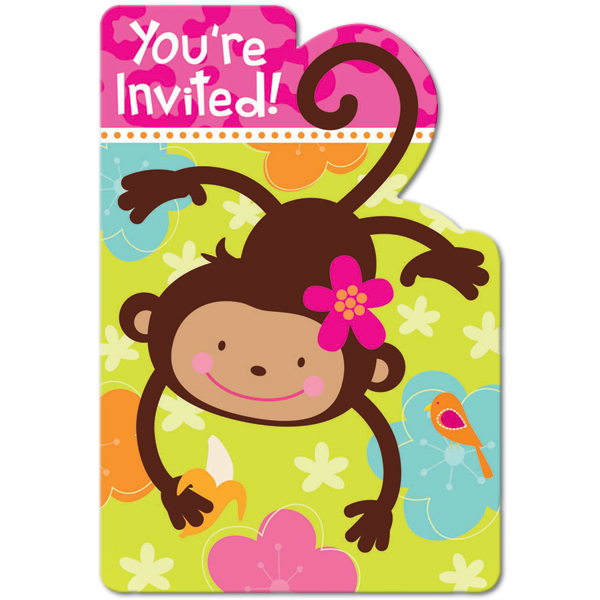 Monkey love party invitations - photo#3