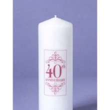 40TH ANNIVERSARY PILLAR CANDLE Thumbnail
