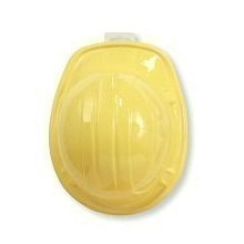 YELLOW PLASTIC CONSTRUCTION 'HARD' HAT Thumbnail