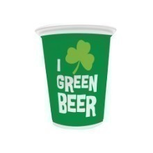 Green Beer Plastic 16oz Cups - 8 Count Thumbnail