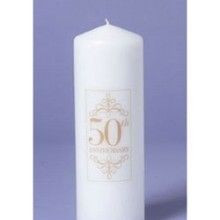 50TH ANNIVERSARY PILLAR CANDLE Thumbnail