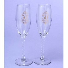 50TH ANNIVERSARY TOASTING GLASSES Thumbnail