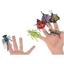 INSECTS / BUGS FINGER PUPPETS - 6 COUNT Thumbnail