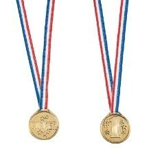 GOLDTONE WINNER MEDALS-12 COUNT Thumbnail