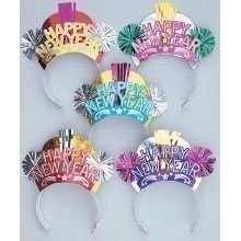 New Year's Assorted Fancy Glitter Tiaras Thumbnail
