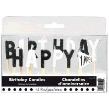 CHALKBOARD BIRTHDAY PICK CANDLES - 14 COUNT Thumbnail